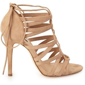 Forever 21 Taupe strappy heels